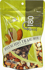 Pistachio Trail Mix Crunch <p><strong>From the Manufacturer:</strong></p><p>Absolutely delectable and delicious! This crunchy pistachio trail mix is slowly dry roasted to perfection!</p><p>Good Source of Protein and Low in Sodium</p> 3 oz Bag