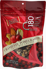 Cranberry Pomegranate Trail Mix <p><strong>From the Manufacturer:</strong></p><p>Absolutely delectable and delicious! This crunchy trail mix is slowly dry roasted to perfection!</p><p>All natural, no preservatives and 0g trans fat</p><p>Gluten-free, 100% Vegan, dairy-free, wheat-free, peanut-free, certified Kosher</p><p>Good source of protein and low in sodium</p> 3 oz Bag  $6.99