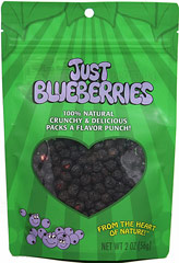 Just Blueberries <p><strong>From the Manufacturer:</strong></p><p>These little gems are a sweet, delicious, crunchy snack right out of the bag. They are also fabulous when added to breakfast cereal (hot or cold), where they plump up to look and taste like fresh blueberries. Try them tossed into sauces, yogurt, fruit smoothies, salads, desserts, muffins, and more. <br /></p> 2 oz Bag  $11.99