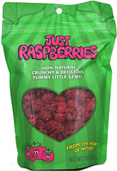 Just Raspberries <p><b>From the manufacturer: </p></b> <p>Like a party in your mouth! This ultimate tangy taste treat.</p> <p>Great just as a snack, but don't miss adding them to your favorite recipes. </p> <p>• Always Kosher. GMO Free. </p> <p>• Never any additives, preservatives or sweeteners. </p> <p>• Always naturally gluten, dairy, wheat and nut free! </p> 2 oz Bag  $11.99