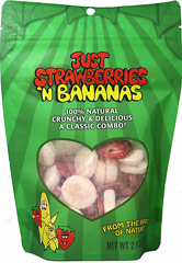 Just Strawberries/Bananas <p><b>From the manufacturer: </p></b> <p>Nothing beats the taste of sweet strawberries. Combined with crunch bananas, this is a winning blend and is packed with great nutrition as well as great taste! </p> <p>• Always Kosher. GMO Free. </p> <p>• Never any additives, preservatives or sweeteners. </p> <p>• Always naturally gluten, dairy, wheat and nut free! </p> 2 oz Bag  $11.99