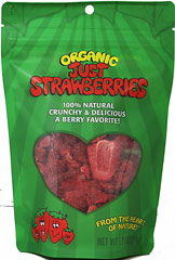 Organic Just Strawberries <p><strong>From the Manufacturer: </strong></p><p>These amazing berries pack a powerful punch. They're the world's favorite berry, but now with a crunch! Nothing beats the taste of sweet, ripe strawberries, but before you eat them all...add a few to your cereal, yogurt, sauces, baked goods, smoothies, or on top of ice cream. The possibilities are endless! <br /></p> 1.2 oz Bag  $4.99