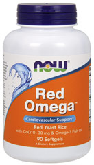 Red Omega™ Red Yeast Rice with Co Q10 & Omega-3 Fish Oil <strong></strong><p><strong>From the Manufacturer:</strong></p><p>• Red Yeast Rice w/CoQ10 & Omega-3 Fish Oil</p><p>• Cardiovascular support</p><p>• 180 mg EPA & 120 mg DHA per softgel</p> 90 Softgels  $13.99