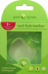 Fruit Cool Soothing Teether-Green Apple <p><strong>From the manufacturer:</strong></p><p>EVA soother filled with safe sterilized water</p><p>Chill for extra soothing relief</p><p>Textured surface massages gums</p><p>Easy for little hands to grasp</p><p>PVC and BPA free</p> 1 Each