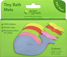 Tiny Bath Mats <p><strong>From the manufacturer:</strong></p><p>100% rubber</p><p>Convenient for travel</p><p>Suction cups to help prevent slipping</p><p>Non-toxic & PVC free</p> 1 Each  $8.39
