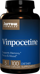 Vinpocetine 5 mg <p>From the Manufacturer's Label:</p><p>Vinpocetine is a compound derived from vincamine, an alkaloid naturally occurring in Voacanga seeds.</p><p>Manufactured by Jarrow Formulas</p><p></p><p></p> 100 Capsules 5 mg
