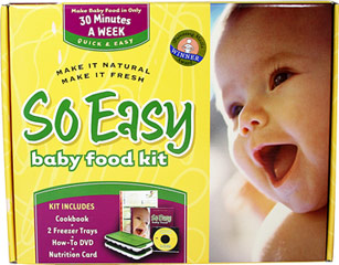 So Easy Baby Food Kit <p><strong>From the manufacturer:</strong></p><p>Make it Natural</p><p>Make it Fresh</p><p>Kit includes cookbook, 2 freezer trays, How-to DVD, Nutrition card</p><p>When your baby is ready to start on solids, the So Easy Baby Food Kit will help you prepare healthy, natural, age-appropriate foods at home.</p> 1 Piece  $22.99