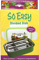 So Easy Divided Dish <p><strong>From the manufacturer:</strong></p><p>Perfect for baby & toddler foods and lunchboxes</p><p>Movable divider keeps food separate</p><p>Airtight lid</p><p>Spill-proof</p><p>Keeps food fresh</p><p>Great for on-the-go</p><p>Double body construction</p><p>Separates for easy cleaning</p><p>Keeps food warm & cool longer</p>&l