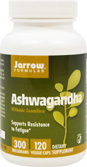 Ashwagandha KSM-66® with Somnifera 300 mg <p><strong>From the Manufacturer's Label:</strong></p><p></p>Ashwagandha has been used in the Indian tradition of Ayurveda to improve musculoskeletal function and as a tonic  to improve overall health.** <br /><p></p><p>Manufactured by Jarrow Formulas</p> 120 Vegi Caps 300 mg $13.99