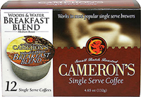 Woods & Water Breakfast Blend Single Serve Coffee Cups <p><b>From the Manufacturer's Label: </b></p>   <p><b>Made from 100% Arabica Beans</b></p>  <p><b>Flavor/Origin:</b> Indonesia, Central America, South America</p>   <p><b>Taste:</b>   Mild, yet rich.</p>   <p>Better taste less waste! Make better coffee in your single serve coffee brewer. Works in most popular single serve brewers, in