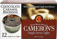 Chocolate Caramel Brownie Single Serve Coffee Cups <p><b>From the Manufacturer's Label:</b></p>  <p><b>Made from 100% Arabica Beans</b></p>   <p><b>Flavor:</b> A union of rich chocolate mocha and velvety caramel.</p> <p><b>Taste:</b> A hint of sweetness combined with the essence of deep chocolate.</p>  <p>Better taste less waste! Make better coffee in your single serve coffee brewer. Works i