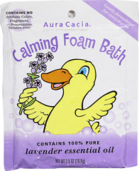Calming Foam Bath <p><strong>From the manufacturer:</strong></p><p>Make every bath a foam bath!</p><p>Gently formulated for everyday use, Aura Cacia's Calming Foam Bath creates a relaxing bath experience for your special ones.  The soothing and calming blend of 100% pure lavender and citrus essential oils is a perfect fit for your bedtime routine.</p> 2.5 oz Powder  $2.49