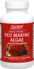 Red Marine Algae 400 mg Red Marine Algae, or Rhodophyta, has been a valued food in Asia for thousands of years due to its highly nutritious qualities. It provides 10 to 20 times the amount of minerals than plants grown on land. These sea vegetables comprise one of the oldest groups of eukaryotic algae, and also one of the largest, with about 5,000–6,000 multicellular species grown mostly in shallow waters throughout the world.  60 Vegi Caps 400 mg
