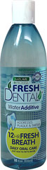 Fresh Dental Water Additive <strong>From the Manufacturer's Label:</strong> <p>Naturel Promise's natural Water Additive is developed to provide dogs and cats with essential daily oral hygiene care. Naturel Promise's natural Water Additive promotes healthy gums and eliminates bad breath for up to 12 hours.</p> 18 oz Bottle  $14.99