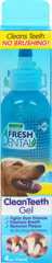 Fresh Dental Clean Teeth Gel <p><strong>From the Manufacturer's Label:</strong></p><p>Works fast and naturally to help reduce plaque and tartar on dogs and cats -- no toothbrush required.  A proprietary blend of natural, holistic ingredients produce a healthy oral environment.  For clean teeth and 'up close' fresh breath everyday! Natural fresh mint flavor.</p><ul><li>Made in the USA</li></ul> 4 oz Bottle  $18.99