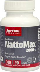 NattoMax® 100 mg <p><strong>From the manufacturer:</strong></p><p>Supports Healthy Circulation**</p><p>2,000 Fibrinolytic Units per capsule</p><p>Vegetarian</p> 90 Vegi Caps 100 mg $19.99