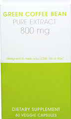 Green Coffee Extract 800mg <strong>From the Manufacturer's Label:</strong> <p>Creative Bioscience Green Coffee Bean Extract contains 800mg of Green Coffee Bean Extract.</p> 60 Vegi Caps 800 mg $16.50