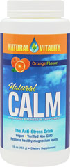 Natural Calm Orange <B>From the Manufacturer's Label</B><P>Award-winning Natural Calm is the best-selling ionic magnesium supplement in the natural products market.</P>  16 oz Powder  $24.57