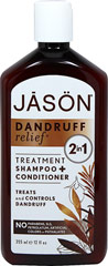 Dandruff Relief® 2 in 1 Shampoo + Conditioner <p><b>From the Manufacturer's Label:</b></p> <p>Dandruff Relief® 2- in-1 Treatment Shampoo + Conditioner is a dual action, medicated formula that cleanses and conditions in one easy step while helping to control scalp dermatitis and mild psoriasis.  Active Ingredient Zinc Pyrithione helps control dandruff and eliminate flakes and itchiness.  Wheat Protein helps strengthens the hair while nourishing Jojob
