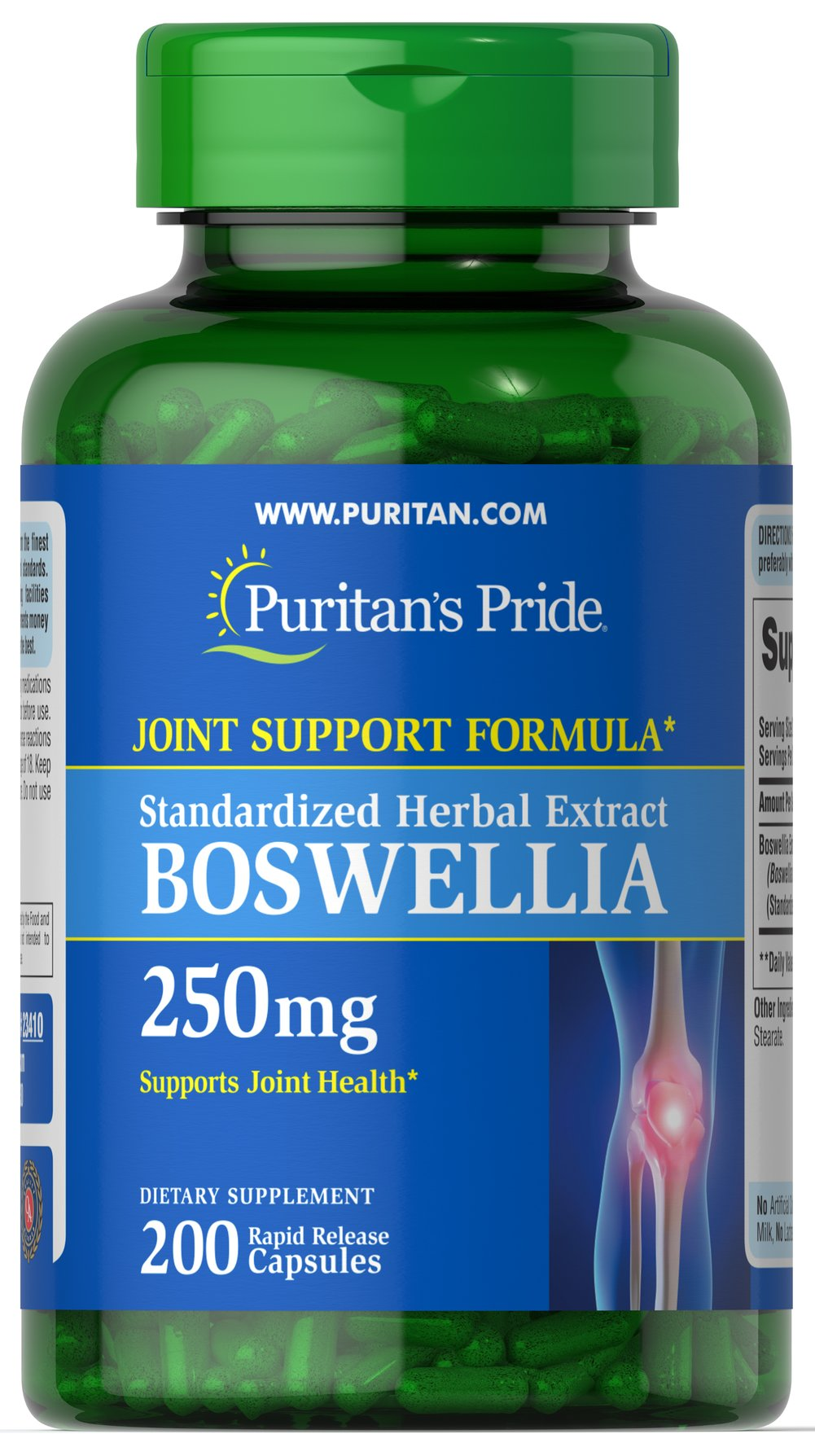 Boswellia Standardized Extract 250mg  200 Capsules 250 mg $31.98
