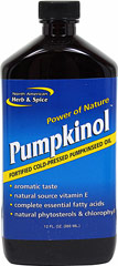 Pumpkinol™ <B>From the Manufacturer's Label:</B><P>Pumpkinol is a delicious, nutritious tonic made from the seeds of a rare pumpkin, which grows only on the hills of south central Austria.  The luscious green oil from Austrian pumpkin seeds has been prized for centuries because of its nutritional value.  Austrian pumpkinseed oil contains dozens of nutrients, including niacin, essential fatty acids, chlorophyll, potassium, phytosterols, and Vitamin E.</P>  12 oz Liquid