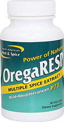 Orega Resp™ <B>From the Manufacturer's Label:<B><P>OregaRESP is the only multiple spice extract made with handpicked spices from the remote mountain regions.  OregaRESP contains P73 wild oregano, high mountain sage, and cumin, with concentrated CO2-extracted cinnamon and ginger powder.</P>  90 Vegi Caps  $47.99