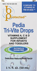 Pedia Tri-Vite Drops <p><b>From the manufacturer:</b></p><p>Vitamins A, C & D supplement for infants and toddlers</p><p>Alcohol & sugar free</p><p>Delicious natural fruit flavor</p>  50 ml Liquid  $6.99
