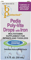 Pedia Poly-Vite Drops with Iron <p><b>From the manufacturer:</b></p><p>Multivitamin  supplement for infants and toddlers</p><p>Alcohol & sugar free</p><p>Delicious natural fruit flavor</p>  50 ml Liquid  $6.99