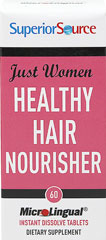 Just Women Healthy Hair <p><b>From the manufacturer:</b></p><p>No pills to swallow</p><p>Place on or under the tongue</p><p>Dissolves immediately on contact</p><p>Preservative free</p>  60 Tablets  $14.99