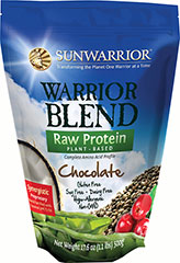 Sun Warrior Raw Protein Blend Chocolate <p><strong>From Manufacturer's Label:</strong></p><p>Plant-based raw protein. Gluten-free. Soy Free. Dairy Free. Hypo-allergenic. Non-GMO.<br /><br />Manufactured by: SunWarrior<br /></p> 1.1 lbs Powder  $24.95