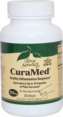 CuraMed® Curcumin BCM-95® 750 mg <p><strong>From the Manufacturer's Label:</strong></p><p>A patent protected method using micronized curcumin, turmeric essential oil, and phospholipids ensures that Curamed® delivers a curcumin that is up to 10 times better absorbed than standard curcumin, as well as having 8-12 hour retention time in the body.</p><p>Manufactured by Terry Naturally<br /></p> 30 Softgels 750 mg $24.99