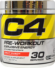 C4 Extreme Fruit Punch <p><strong>From the Manufacturer's Label:</strong></p><p>C4 Extreme Fruit Punch is manufactured by Cellucor.</p> 177 gr Powder  $29.99