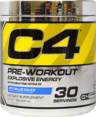C4 Extreme Blue Razz  30 Servings Powder  $28.99