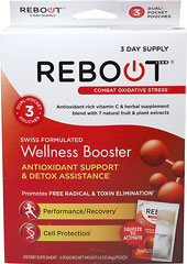Rebootizer® Wellness Booster 3-Day Supply <p><strong></strong></p><p><strong>From the Manufacturer's Label:</strong></p><p></p><p><strong></strong></p><ul><li>Antioxidant Support & Detox Assistance**</li><li>Promotes Free Radical Elimination**</li><li>Performance /Recovery**</li><li>Cell Protection**<br /></li></ul><p>&nb
