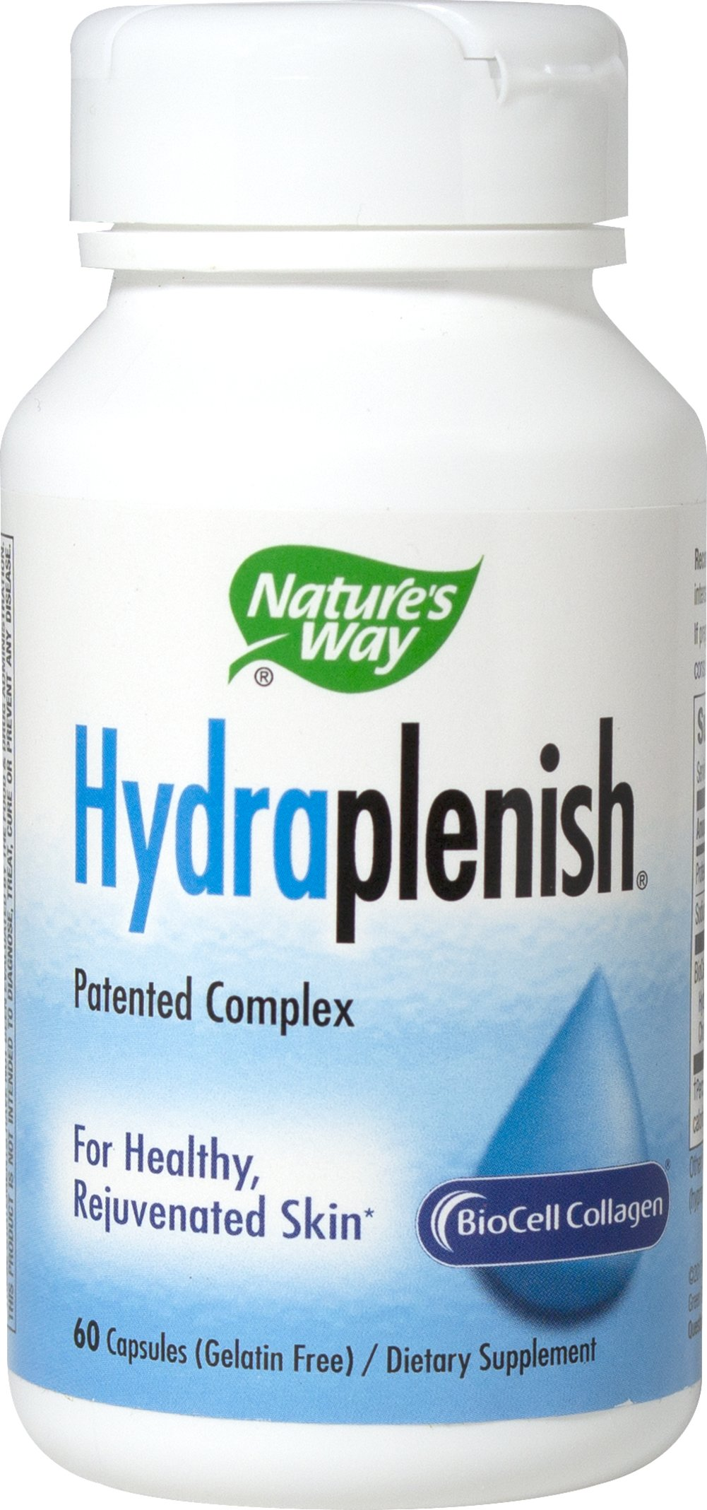 Hydraplenish® Hyaluronic Acid Complex <p><strong>From the Manufacturer's Label:</strong><br /><br />Hyaluronic Acid<br />Patented Complex<br />Superior Absorption<br /><br />Internal Moisturizer for Skin & Joints**<br />Moisturizes & rejuvenates skin**<br />Lubricates & cushions joints**<br /><br />Hydraplenish® contains the patented BioCell Collagen® complex for healthy conne