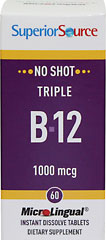 Triple Vitamin B-12 1,000 mcg Microlingual From the Manufacturer's Label:<br /><br />Our Instant Dissolve MicroLingual® Tablets may be small but they are full potency!  Typical tablets and capsules need to be swallowed and are inefficiently absorbed in the digestive system.  MicroLingual® tablets dissolve immediately under the tongue, heading straight into the body.  Our  proprietary hydrodrying process results in fewer inactive binde