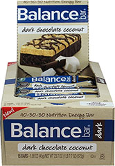 "Dark Chocolate Coconut Balance Bars <table border=""0"" cellpadding=""0"" cellspacing=""0"" width=""563""><colgroup><col width=""563"" /></colgroup><tbody><tr height=""127""><td class=""xl65"" height=""127"" style=""height:95.25pt;width:422pt;"" width=""563""><p><strong>From the Manufacturer's Label:</strong></p><p>This  delicious, gluten-fre"