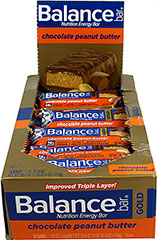 "Peanut Butter Balance Bars Gold <table border=""0"" cellpadding=""0"" cellspacing=""0"" width=""688""><colgroup><col width=""688"" /></colgroup><tbody><tr height=""112""><td class=""xl65"" height=""112"" style=""height:84.0pt;width:516pt;"" width=""688""><p><strong>From the Manufacturer's Label:</strong></p><p>BALANCE  GOLD® Chocolate Pe"