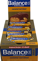 "Caramel Nut Blast Balance Bars Gold <table border=""0"" cellpadding=""0"" cellspacing=""0"" width=""688""><colgroup><col width=""688"" /></colgroup><tbody><tr height=""101""><td class=""xl63"" height=""101"" style=""height:75.75pt;width:516pt;"" width=""688""><p><strong>From the Manufacturer's Label:</strong></p><p>Creamy  caramel. Chocolate"