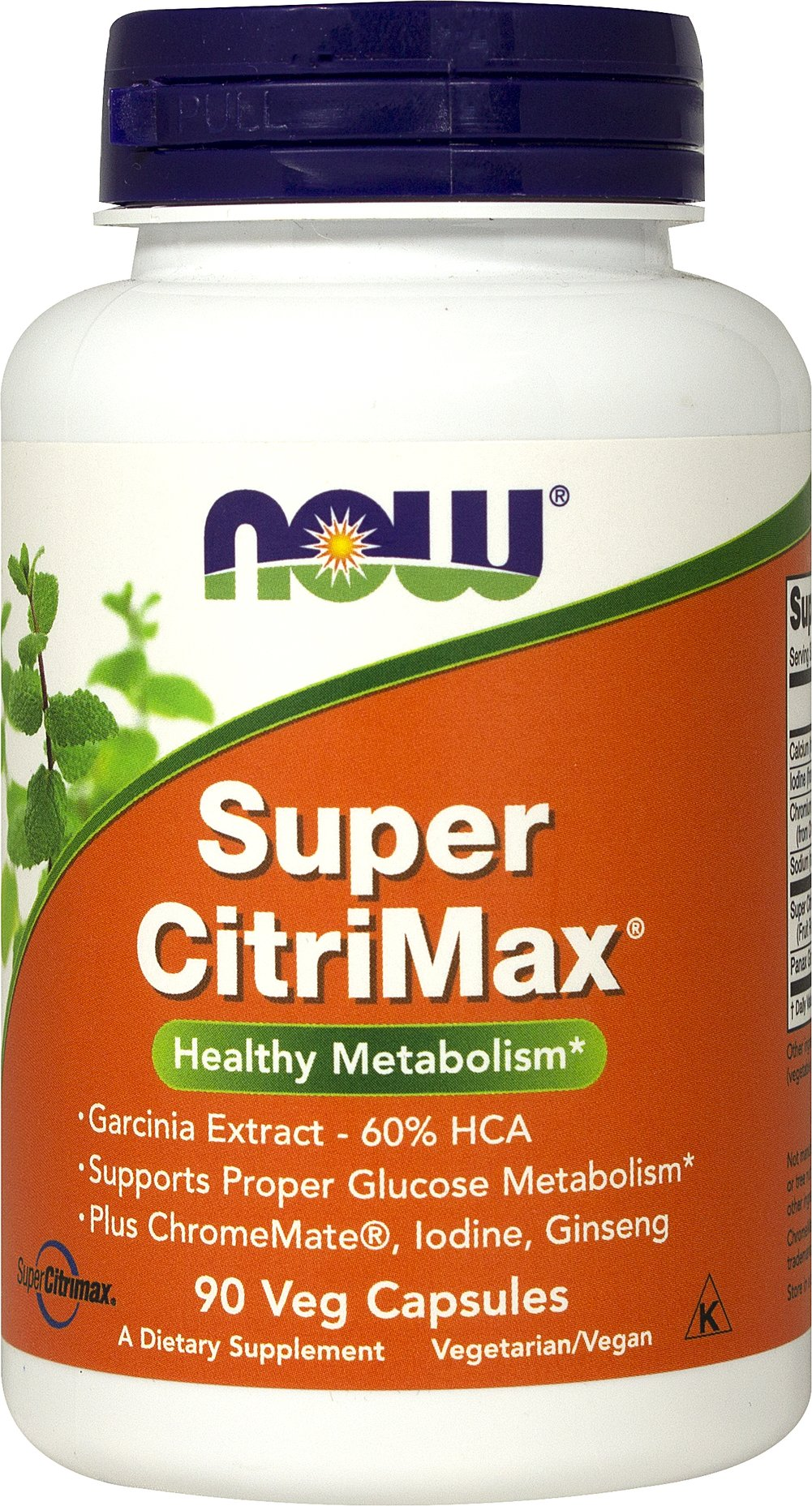 Super Citrimax <p><strong>From the Manufacturer's Label:</strong></p><p>Super Citrimax is manufactured by NOW Foods®.</p> 90 Capsules  $14.99