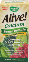 ALIVE CALCIUM  60 Tablets  $13.99