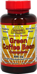 Green Coffee Bean Complete with Svetol® <p><strong>From the Manufacturer's Label:</strong></p><p>Dynamic Health Green Coffee Bean Complete™ is a unique synergetic formula made with Green Coffee Bean svetol®, Raspberry Ketones, L-Carnitine and specially cultivated herbs including patented African Bush Mango, Irvingia IGOB31, (Irvingia gabonensis), Acai Berry, Nopal Cactus, Baobab, Apple Cider Vinegar and Green Tea Extract.  Each of these health