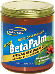 Raw BetaPalm™ African Red Palm Oil  8 oz. Oil  $8.99