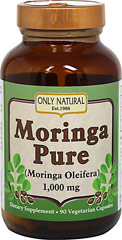 Moringa Pure (Moringa Oleifera) 500 mg <p>From the Manufacturer's Label:<br /><br />Moringa is known as the miracle plant.  Only Natural uses the finest Moringa Oleifera leaves and pods.  This nutrient dense food is rich in vitamins A,B,C & the minerals iron & potassium.  It is a complete protein source containing essential amino acids as well as coenzymes and antioxidants.  Moringa can be a healthy addition to any diet an