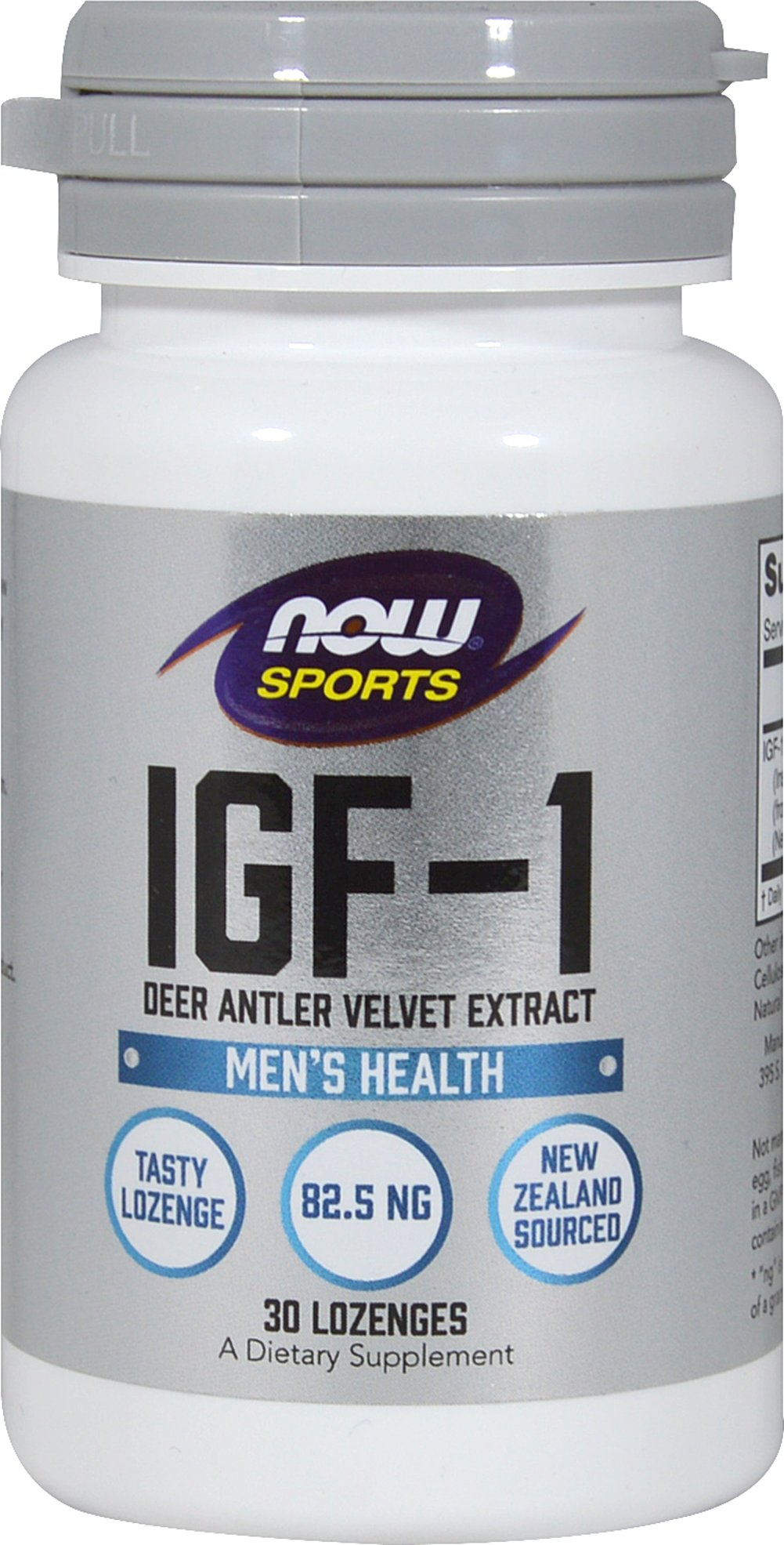 IGF-1 New Zealand Deer Antler Velvet Extract From the Manufacturer's Label:<br /><br />New Zealand Deer Antler Velvet Extract<br />• Natural Growth Factor provides Anti-Aging and Healthy Immune Support**<br /><br />IGF-1 (Insulin Growth Factor-1) is a compound produced primarily in the liver through a conversion of HGH (Human Growth Hormone). HGH is secreted by the pituitary gland and is essential for growth and healthy immune system function.**<br /><b