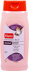 Groomer's Best Hairball Control Shampoo <p><strong>From the Manufacturer: </strong></p><p>Hartz Groomer's Best Hairball Control Shampoo has been specially formulated for cats and kittens. This Conditioning Shampoo helps reduce hairballs by removing loose hair. Micro beads infused with conditioners are released while you shampoo, leaving a clean, silky coat.</p><ul><li>Made in the USA</li></ul> 15 oz Shampoo  $1.99
