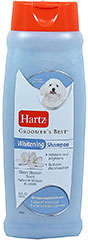 Groomer's Best Whitening Shampoo <p><strong>From the Manufacturer: </strong></p><p>Hartz Groomer's Best Whitening Shampoo for dogs brings out the natural brilliance of white, silver, and light coats and reduces coloration. Deep cleans for a healthy shine.</p> 18 oz Shampoo