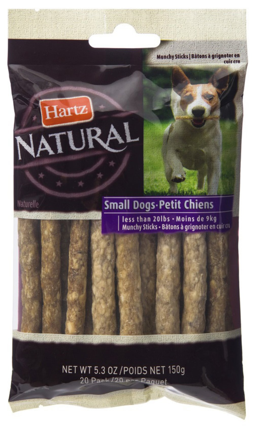 Rawhide Natural Sticks for Small Dogs <p><strong>From the Manufacturer:</strong></p><p><strong></strong>Hartz Natural Rawhide Sticks for Small Dogs is an ideal treat for aggressive chewers and naturally promotes plaque and tartar reduction.</p> 20 Pack  $4.99