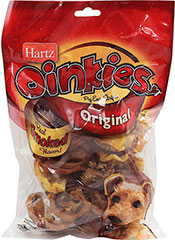 Oinkies Pig Ears <p><strong>From the Manufacturer:</strong></p><p><strong></strong>Hartz Oinkies Pig Ear Strips for Dogs are all natural, oven baked chews with a savory smoked flavor. These natural chews are the perfect size for any dog.</p> 9 oz Bag  $12.99