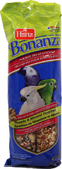 Bonanza Parrot Peanut Butter Treat Sticks <p><strong>From the Manufacturer: </strong></p><p>Hartz Bonanza Parrot Peanut Butter Treat Sticks are a unique treat of blended fruits, seeds, and nuts that your Parrot will love. These healthy snacks are specifically formulated for parrots to help maintain optimum health and vitality.</p> 4 Pack  $8.99